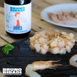 75cl Bianca Birra Artiginale Bottiglia Bruno Ribadi