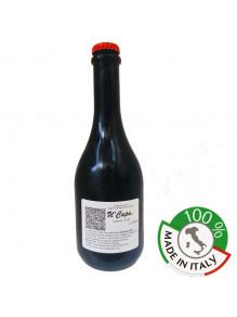 """Vendita online Birra Artigianale Siciliana Rossa """"U Capu"""" Etichetta Bottiglia 50cl Re di Denari"""