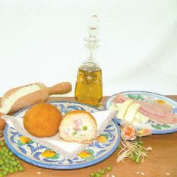 Confezione da 18 pezzi di Arancino Siciliano Bianco Prosciutto...