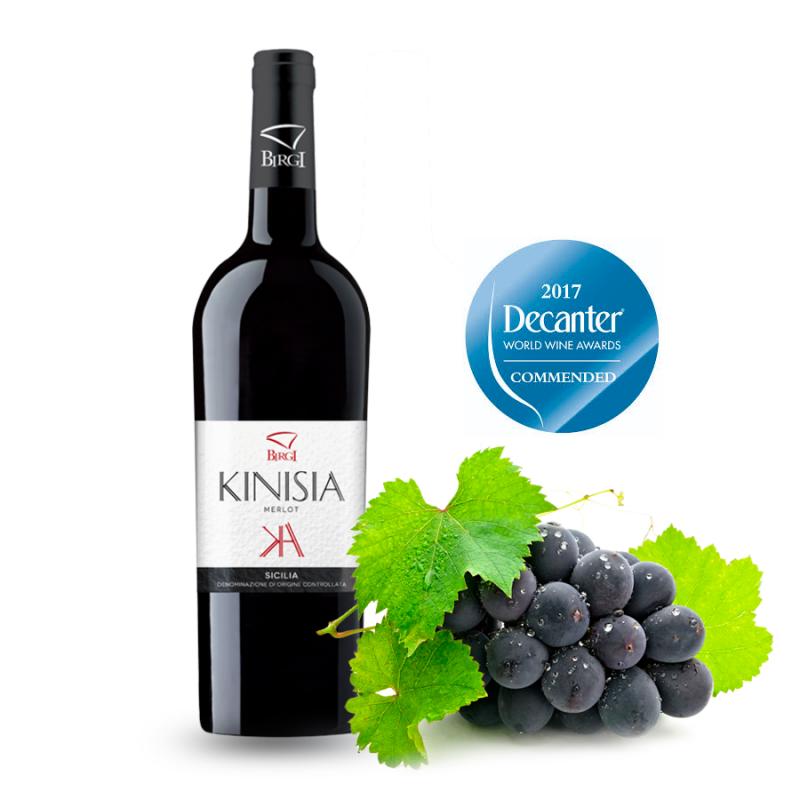 Red Wine Merlot DOC 100% Bottle 75 cl Line Kinisia Sicilian Winery Birgi selling oline