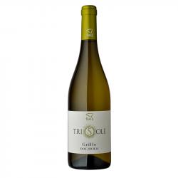 Vino Bianco Grillo100% Bottiglia da 75 cl Linea Trisole Cantina Birgi