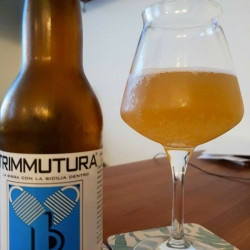 33cl White Craft Beer Bottle Hybrid of Trimmutura Capers of Pantelleria