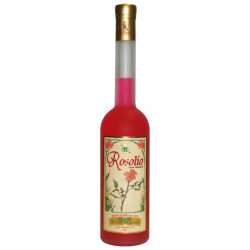 10 cl di Rosolio Siciliano liquore alle Rose in elegante bottiglia