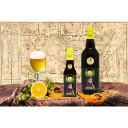 Su insicilia.com puoi acquistare online la Birra Artigianale bionda Irias Ambra agli agrumi di Sicilia da 75 cl