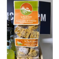vendita online Biscotti Cantucci a limone farina di farro monococco confezione da 250g