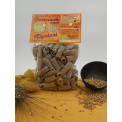 Vendita online 500g Rigatoni Pasta integrale farina Perciasacchi solo grano siciliano