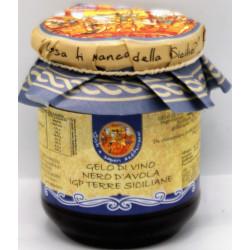 Gelo di vino nero davola IGT SICILIA in vasetto da 100g