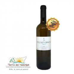 Vino Bianco Grillo 100% Bottiglia da 75 cl Poggio Grimodi