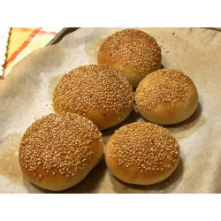 """Pack of 5 """"moffolette"""" of Sicilian Bread for panelle and crocchè"""