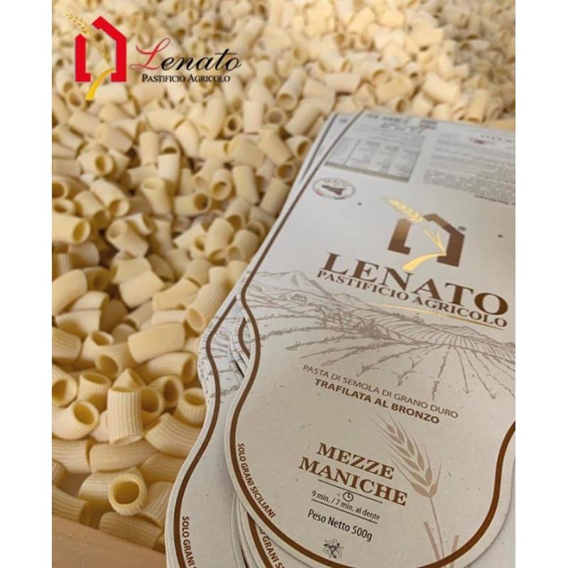 Vendita online 500gr Mezze Maniche Pasta di Semola Pastificio Agricolo Lenato Caltagirone