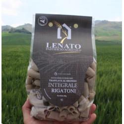 Vendita online 500g Rigatoni Pasta integrale solo grano siciliano Pastificio Lenato