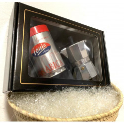 Gift Box with 100% Arabian g.250 cans and a Moka