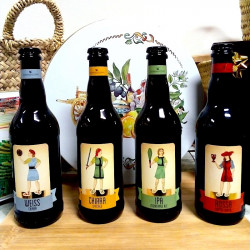 Pack of 4 Sicilian beers bottle from the Donna di Coppe