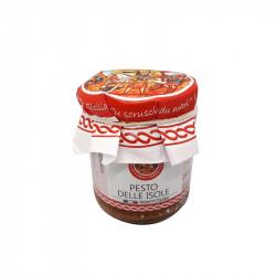 vendita online Pesto delle Isole, pomodori secchi, tonno e mandorle in vasetto di 180g