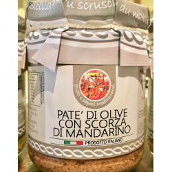 Patè di Olive con scorza di mandarini in vasetto da 180g