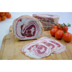 "Package of 400g of ""Pancetta"" rolled bacon of Black Pig of..."