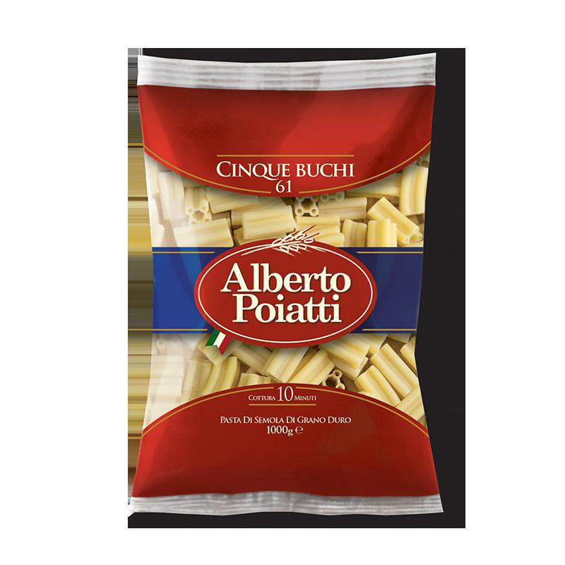 Pasta di Semola di Grano Duro, Cinque Buchi Alberto Poiatti confezione da 1kg