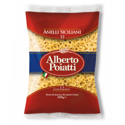 1kg (35,27oz) Durum wheat semolina Pasta Anelletti Siciliani