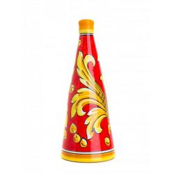 Vino Nero d'Avola in Bottiglia da 75cl di Ceramica di Caltagirone Passione Judeka