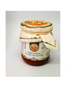 Sicilian Caponata of aubergines 280 gr on jar