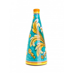 Vino Nero d'Avola in Bottiglia da 75cl di Ceramica di Caltagirone...