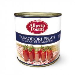 2,5 kg (88,18 OZ) Peeled tomatoes in tin Alberto Poiatti
