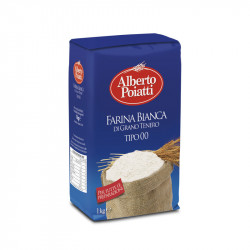 1kg (35.27oz) of white flour type 00 Alberto Poiatti