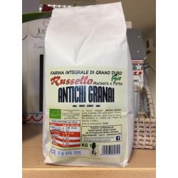 1 kg di Farina Russello grano integrale Siciliano Biologico