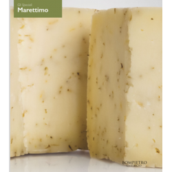 """Semi-aged gourmet cheese with Time From """"Marettimo"""""""