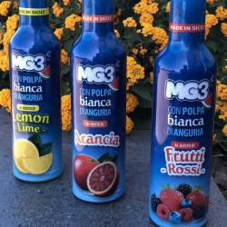 Bevanda di frutta con polpa di anguria e frutti rossi...