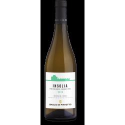 Organic White Wine Insolia 100% Bottle Baglio di Pianetto Winery