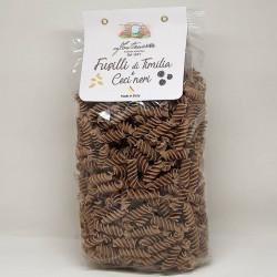 "500g (17.63 oz) Timilia and black cheackpeas flour ""Fusilli""..."
