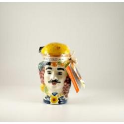 Testa di Moro di ceramica con Frutta martorana  - Pasticceria Palazzolo