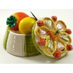 """Martorana Fruit in ceramics """"cassatina"""" Pasticceria Palazzolo"""