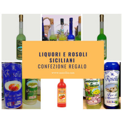 Gift Pack of Sicilian Rosolio's Liquers and Limoncello...