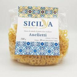 Durum wheat semolina Pasta Anelletti Siciliani 500 gr