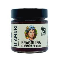 AMURI STRAWBERRY jam more than 75% fruit  - 250g