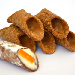 Big Sicilian Sweet Waffle of Sicilian Cannolo in pack of 5 pieces