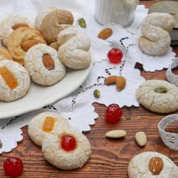 """Pasticcini Siciliani alle Mandorle 500 gr - """"Paste Siciliane alla Mandorla"""" - Biscottini Dolci"""