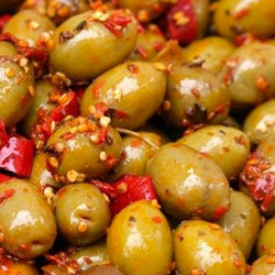 Spicy Sicilian Green Olives in packs of 250 g