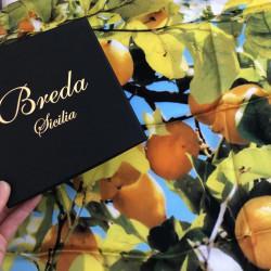 "Foulard Breda ""Arancio"" 70x70"
