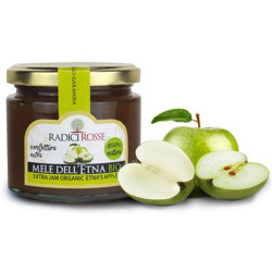 Sicilian Etna Apple Organic Extra Jam in jar of 240gr