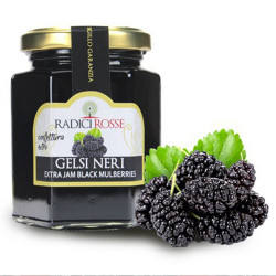 "Sicilian black mulberries ""Gelsi"" organic extra jam in jar of..."