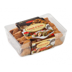 Small Waffle of Sicilian cannolo pack of 24 pieces