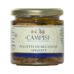 Flawored pieces of anchovies 220gr