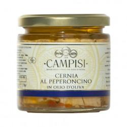 Cernia con peperoncino in olio d'oliva 220gr