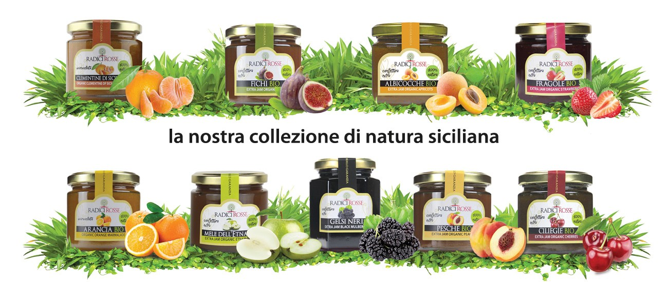 Vendita online conserve e marmellate siciliane biologiche radici rosse