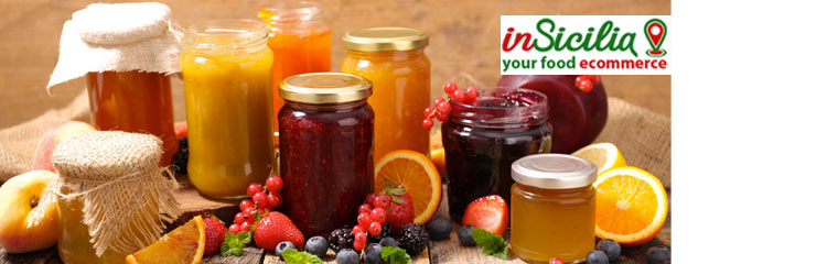 Want to Buy Sicilian Biological Jams Online? On Insicilia selling food such as strawberry, peach, cherry, apple, malt and fig jam