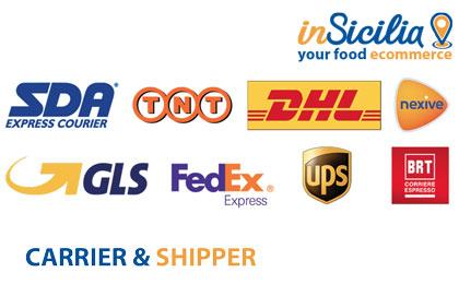 Con chi spedisce insicilia.com -GLS, SDA, Bartolini, TNT, Fedex, UPS
