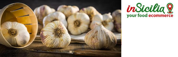 Vendita on line di aglio siciliano, conserve di aglio, prezzo aglio